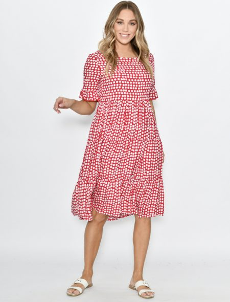 Dotti Dress Red Front