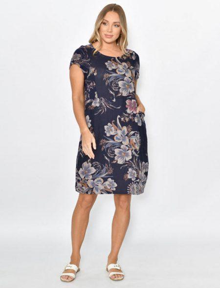 Lucca Linen Dress Front