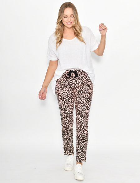 Pink Leopard Pants