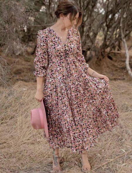 Secret garden maxi dress-