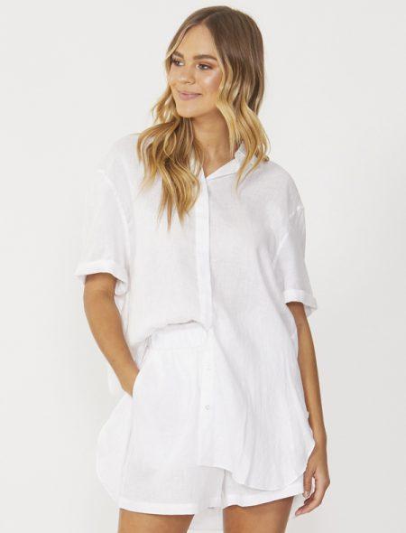 Summer linen shirt Front View